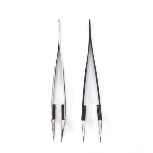 Ceramic Tipped Stainless Steel Tweezers Fine Pointed Tip Heat Resistant Tk