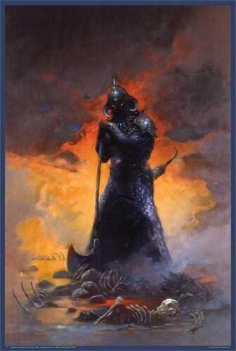 Death Dealer Three By Frank Frazetta Poster 24in x 36in