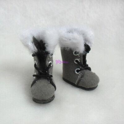 Mimiwoo Handmade Mini Doll Shoes Maryjane Brown SBB002LBN fit foot size 2cm
