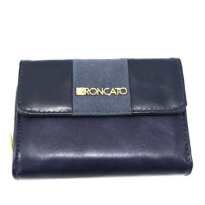 a basso prezzo 2b701 62aa2 Dettagli su Portafoglio donna SIMILPELLE con portamonete e zip R RONCATO  4802-480 blu