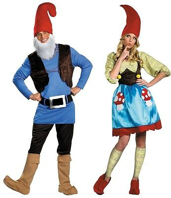 Couples Papa and Mrs. Gnome Costume Travelocity Halloween Disguise 38206 38208