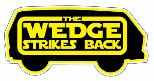 WEDGE STRIKES BACK STICKER vw t25 carravelle panel rat syncro T3 150mm wide