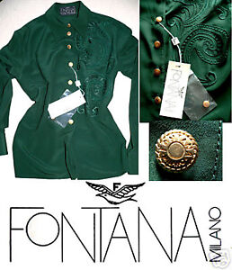 Sapin 38 Très Féminin Fontana Vert 100 Couture Soie Neuf Chemisier F7AY1a