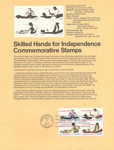 7709-13c-Skilled-Hands-Stamp-1717-20-Souvenir-Page