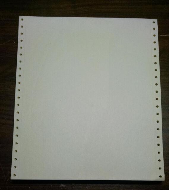 "x 11/"" Continuous Feed Tractor 2500 Sheets Dot Matrix Printer Paper 9.5/"" 8.5/"""
