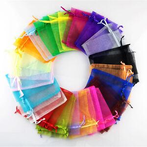 50-100pcs-Organza-Bags-Jewellry-Gift-Pouch-Wedding-Favour-Drawstring-Mini-Size