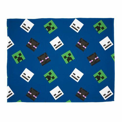 Minecraft Creeps Blanket Super Soft Fleece Throw Blue Children/'s