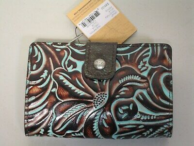 PATRICIA NASH CIRELLA WALLET     TOOLED TURQUOISE      NEW       Style # P573133