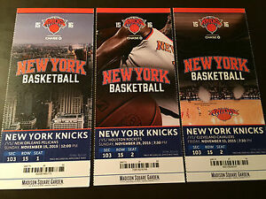 Offer Up San Diego >> New York Knicks 2015-16 NBA ticket stubs - One ticket ...