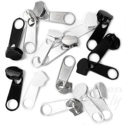 Curseur pull # 5 pour chaîne zip fermeture éclair SPIRALE extracteur kit réparation remplacement AV8