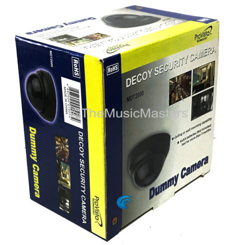 2X Fake Dummy Simulated Decoy DOME SECURITY CAMERA Surveillance CCTV LED Light