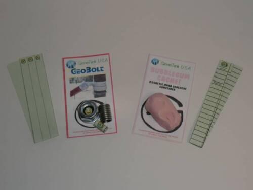 Magnetic GeoBolt & Gum Geocache containers - Cache Geocaching Neodymium Bolt GPS