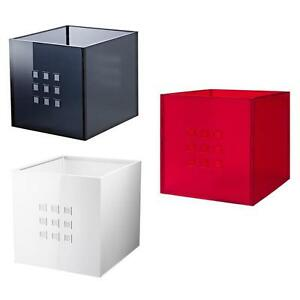 ikea lekman storage box red white or gray ebay. Black Bedroom Furniture Sets. Home Design Ideas