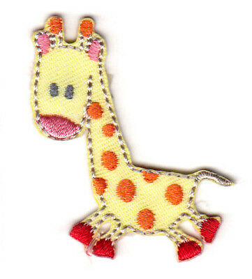 Children/'s Yellow Giraffe//3-D Mane Iron on Applique//Embroidered Patch