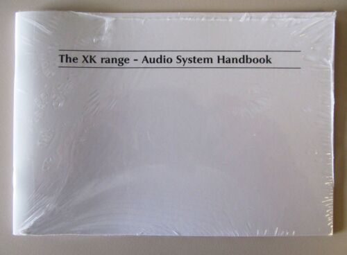 2003 2004 2005 2006 JAGUAR XK XKR AUDIO SYSTEM OWNERS MANUAL NEW FREE SHIPPING