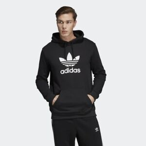 Details about ADIDAS ORIGINALS TREFOIL HOODIE NEW WITH TAG, BLACK, MEDIUM. 100% AUTHENTIC