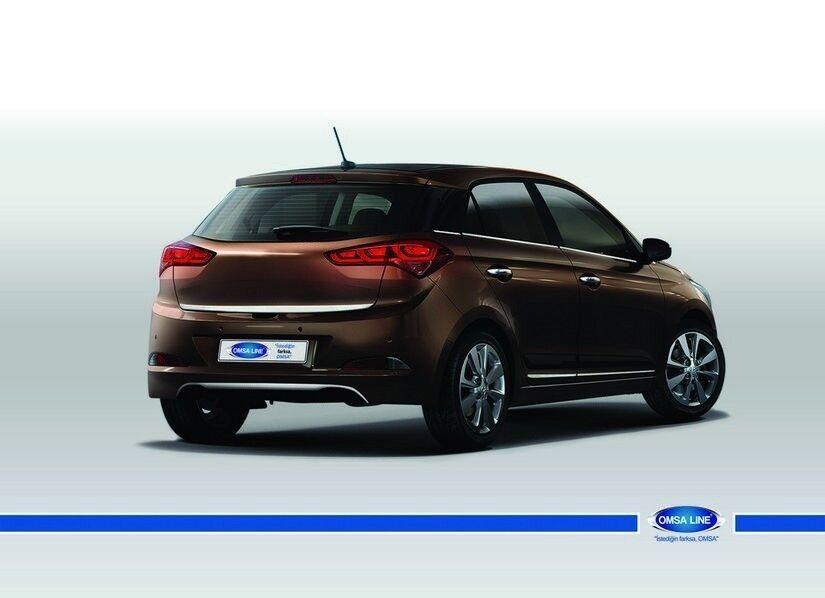 2014-UP FOR Hyundai I20 Elite  i20 Chrome Rear Bumper Sill Cover 2 Pcs Brushed