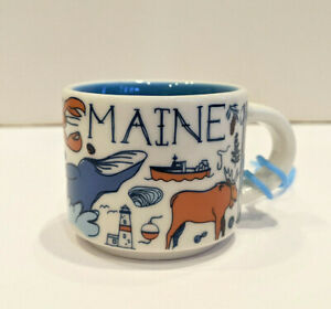 """Starbucks """"Been There"""" 2oz. Mug Ornament - MAINE - Collectable (No Box) MINT!"""