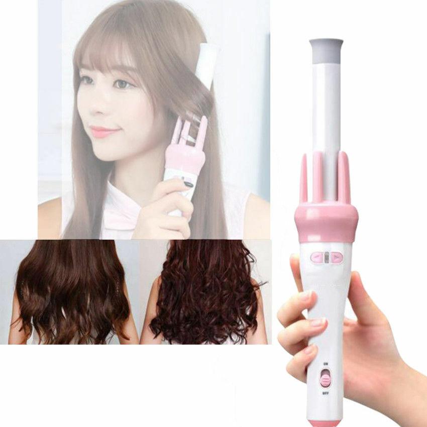 Image 6 - Women-Automatic-Hair-Curler-Wand-Ceramic-Auto-Rotate-Beach-Waver-iron-Electric