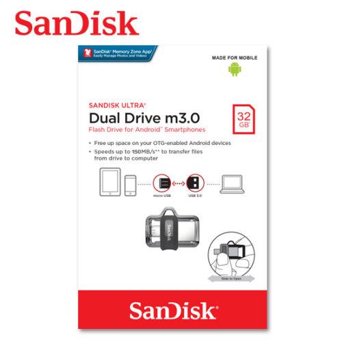 SanDisk 16GB 32GB 64GB Ultra Dual Drive OTG micro USB//USB3.0 for Android phones