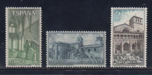 ESPANA-1964-MNH-NUEVO-SIN-FIJASELLOS-EDIFIL-1563-65-MONASTERIO-HUERTA