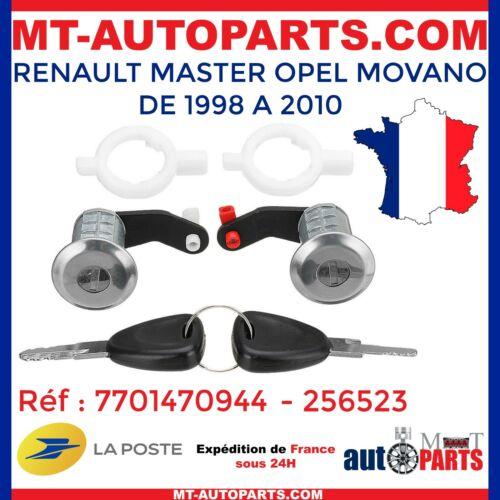 2 BARILLET SERRURE BARILLETS SERRURES DE PORTE RENAULT MASTER NEUF 7701470944