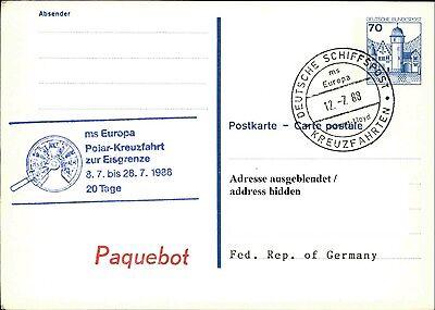Schiffspost Stempel Ms Europa Cancel Paquebot Polar-kreuzfahrt Zur Eisgrenze `88 Reichhaltiges Angebot Und Schnelle Lieferung Briefmarken Ganzsache