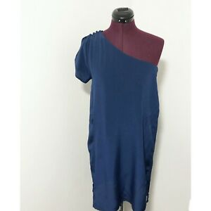 Postella Silk One Shoulder Mini Dress Women's Size Small