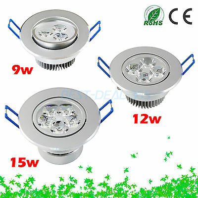 Super-Bright Dimmable 9W 12W 15W LED Down Light Bulb Recessed Ceiling Lamp B365