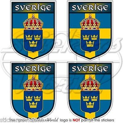 """autocollant SUÉDOIS 100mm La Suède bouclier Sverige 4 /"""" Vinyle Autocollant"""