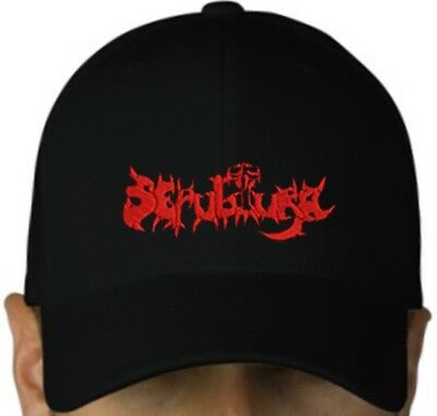 SEPULTURA black cap hat NEW embroidered logo thrash metal