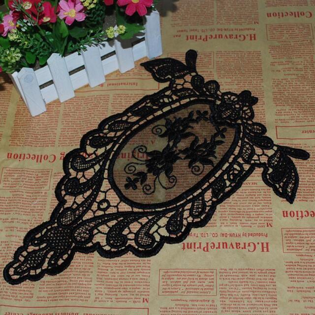 Trim Floral Motif Flower Lace Applique Sewing Fabric