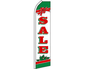 Sale Christmas Red / White / Green Swooper Super Feather Advertising Flag