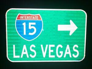 Interstate-15-LAS-VEGAS-route-road-sign-18-034-x12-034-NDOT-Nevada-Interstate-15
