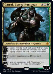 Garruk-Cursed-Huntsman-Foil-x1-Magic-the-Gathering-1x-Throne-of-Eldraine-mtg