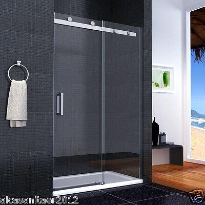Duschabtrennung Duschwand Walkin Dusche 8mm Glas Schiebetür Nischentür 120x195cm