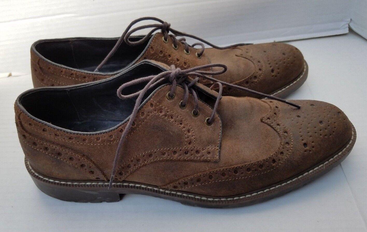 Scarpe casual da uomo  JOHNSTON & MURPHY Suede Brown Chukka WingTip Dress Oxford Dress Shoes uomos 11