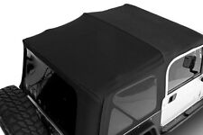 1997-2006 Jeep Wrangler Soft Top Canvas Roof & Tinted Rear Windows Black Diamond