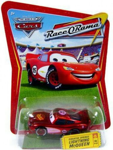 The World of Cars Race-O-Rama Radiator Springs Lightning McQueen Diecast Car #2