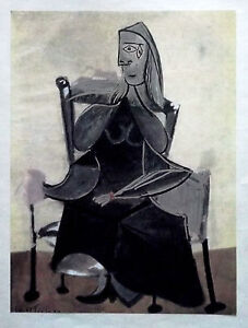 PABLO-PICASSO-LITHO-PRINT-w-COA-superb-1946-vintage-print-Unique-VERY-RARE-ART