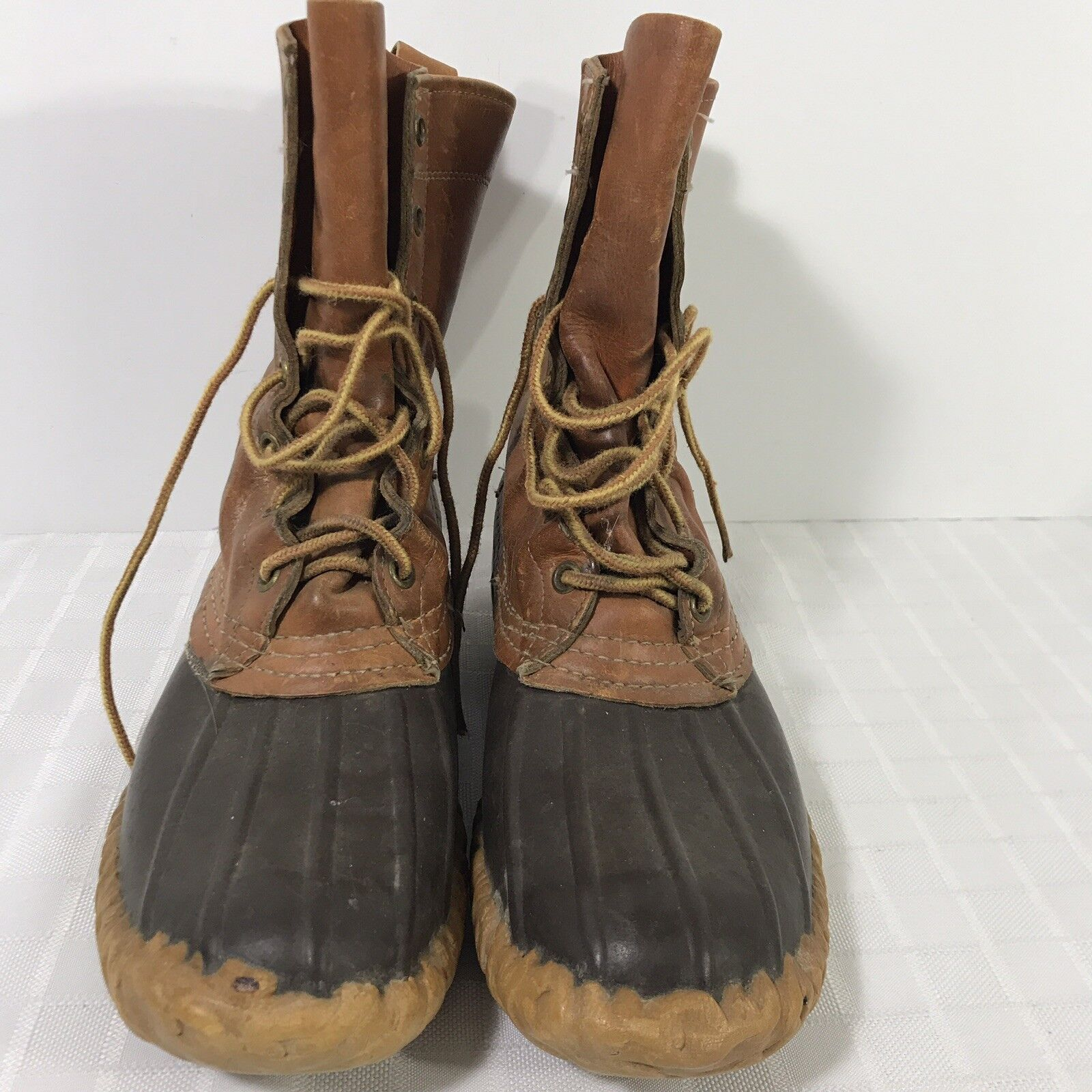 Great Vintage LL Bean Maine Hunting Duck Gum scarpe stivali Leather donna's Dimensione 7