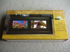 "Brand New Digital Decor Dual 7"" Screen Digital Photo Frame"