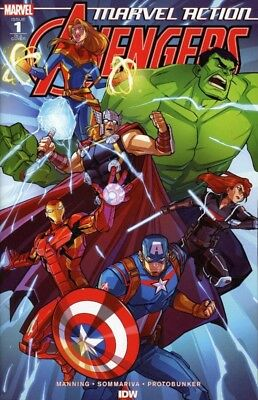 MARVEL ACTION AVENGERS #7 IDW COVER A  SOMMARIVA  MANNINT 1ST PRINT KIDS!