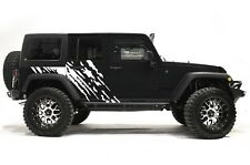 Vinyl Decal Wrap Kit for 4-Door 2007-16 Jeep Wrangler Rubicon SPLASH Matte White