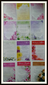 mothers day graveside bereavement memorial cards lovely words for
