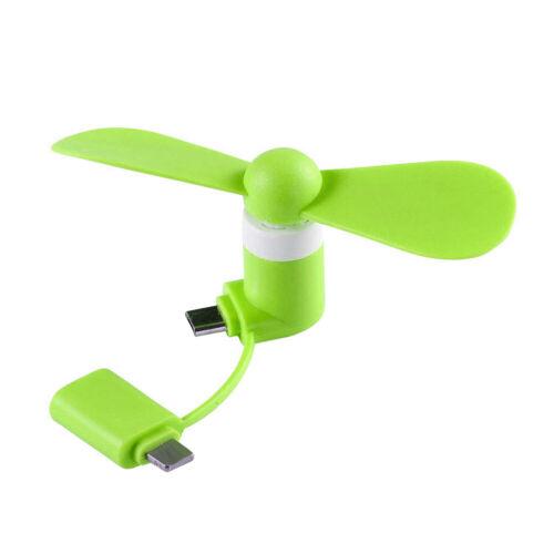 Portable Type-C Mobile Phone Mini Cooling Fan Super Mute For USB C //Micro USB