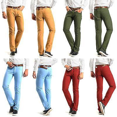 Navy Blue 30W Robelli Men/'s Designer Slim Straight Fit Denim Stretch Jeans