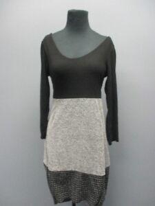 Nwt lunghe Causal Nero Ee9037 Esempio Neck Scoop Sz S Dress Fatale Maniche Femme CUSx4wBWq