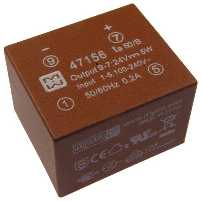 myrra 47156 Trafo 100-240V AC/DC-Wandler 24V 220mA Electronic-Transformer 854820