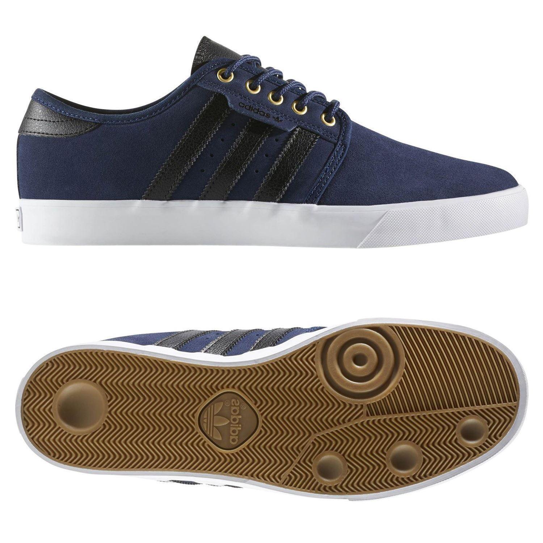 Adidas originali uomini seeley pattinare lo scarpe formatori blu navy con lo pattinare skateboard di nuovo 981548